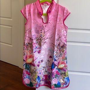 Girls - chinese qibao silk dress